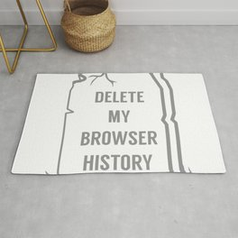 Delete My Browser History Rug