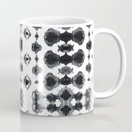 Shibori Ikat Habotoi BW Coffee Mug
