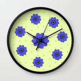 Flowers in Grass Wall Clock