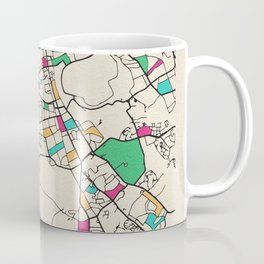 Colorful City Maps: Edinburgh, Scotland Coffee Mug