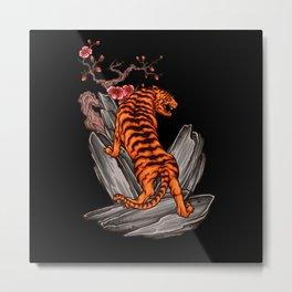 Asian Tiger Animal Motif Gift Idea Design Metal Print