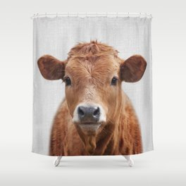 Cow 2 - Colorful Shower Curtain