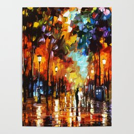 Tardis Art And The Couple Starry Night Poster