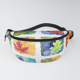 Colorful Summer Leaves Fanny Pack