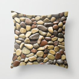 Wall pebble pattern Throw Pillow
