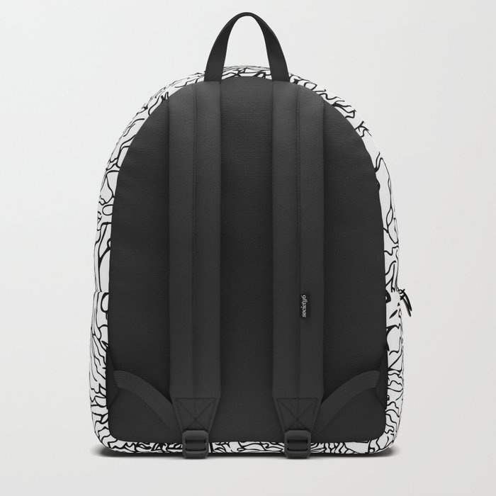 SPRING IN BLACK AND WHITE Backpack