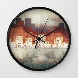 City Rain Wall Clock