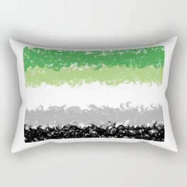 Aromantic Flag Swirls Style Graphic Design Rectangular Pillow