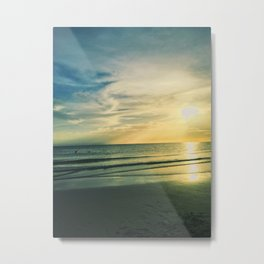 Sunset on the Beach Metal Print