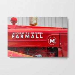 Vintage Red Antique Farmall M Tractor Farming Country Nostalgia  Metal Print