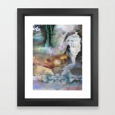 washed away Framed Art Print