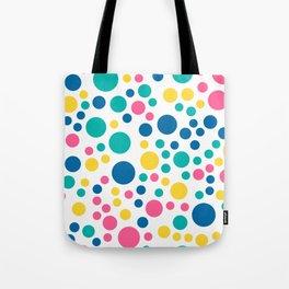 Seamless colorful bright summer circle Tote Bag