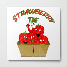 Strawberry Time Metal Print