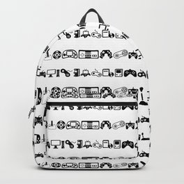 Video Games White Backpack