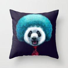 PANDA AFRO Throw Pillow