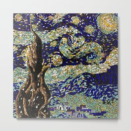"Vincent Van Gogh's ""Starry Night"" mosaic Metal Print"