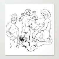boys Canvas Prints featuring Boys by vooduude