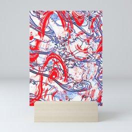 Splattering of Red Mini Art Print