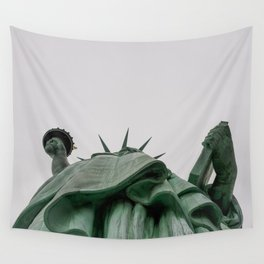 A Lady in green - NYC Wall Tapestry
