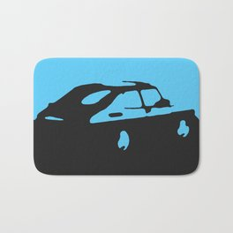 Saab 900 classic, Light Blue on Black Bath Mat