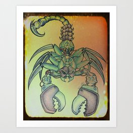Mechanical Scorpion Art Print