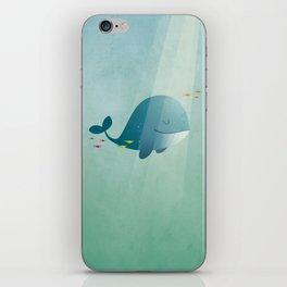 Whale print iPhone Skin