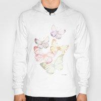 butterflies Hoodies featuring Butterflies by Aline Souza de Souza
