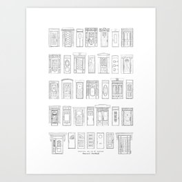 Portes de la 1re ave, Rosemont, Montréal Art Print