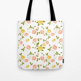 Roses, floral background Tote Bag