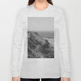 Point Vicente - California Coast - Black & White Version Long Sleeve T-shirt