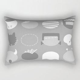 Old School Minimalist Movie Monsters Rectangular Pillow
