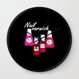 Nail Polish 5 Wall Clock