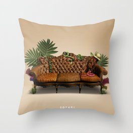 Sofari B Throw Pillow