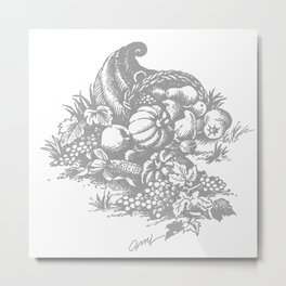 toile tradition grey Metal Print