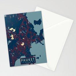 Phuket City Map of Thailand - Hope Stationery Cards