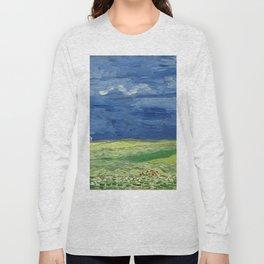 Vincent van Gogh - Wheatfield Under Thunderclouds Long Sleeve T-shirt