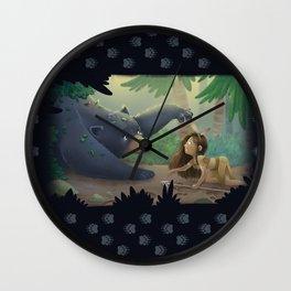 Kuruk and Maska  Wall Clock