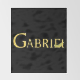 Gabriel with Feather Throw Blanket