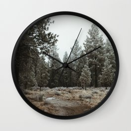 A Walk Through the Trees Wall Clock
