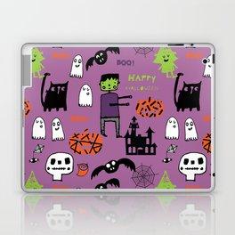 Cute Frankenstein and friends purple #halloween Laptop & iPad Skin