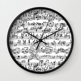 Handwritten Sheet Music Wall Clock