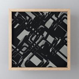 3D Abstract Futuristic Background X. 13 Framed Mini Art Print