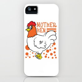 Chicken Lover? Here's a cute t-shirt design with a cute illustration of a  Hen Chick Rooster iPhone Case