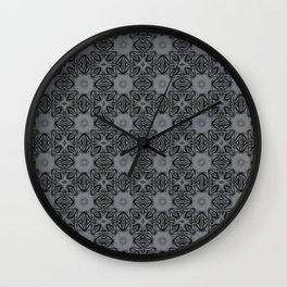 Sharkskin Floral Wall Clock