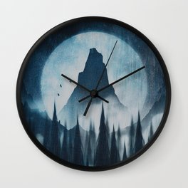 Find your mountain Wall Clock