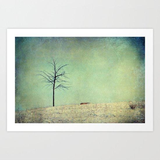 the hill Art Print