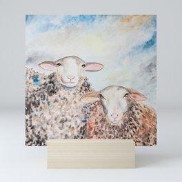 Couple of Sheep Mini Art Print