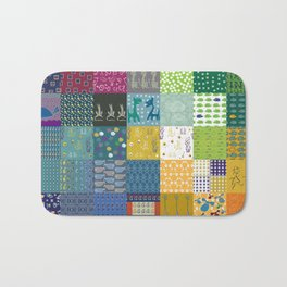 Patchwork from FishCard: 100 images in one Bath Mat