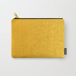 Orange Yellow Pixilated Gradient Carry-All Pouch