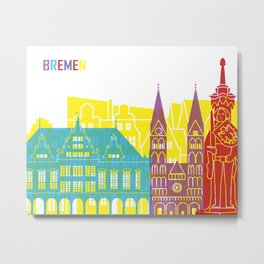 Bremen skyline pop Metal Print